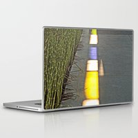 library Laptop & iPad Skins featuring Library Line  by Ethna Gillespie