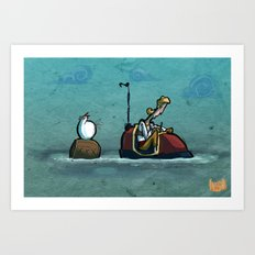 Use Verb on Noun #33: Curse of Monkey Island Art Print