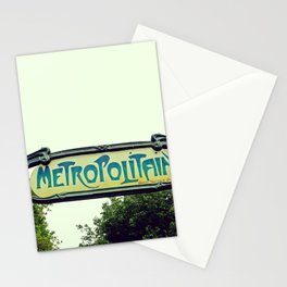 Metropolitain Sign - The Paris we all love Stationery Cards