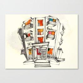 Japanese building Canvas Print