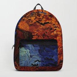 Van Gogh, Wheatfield with Crows – Van Gogh,Vincent Van Gogh,impressionist,post-impressionism,brushwo Backpack