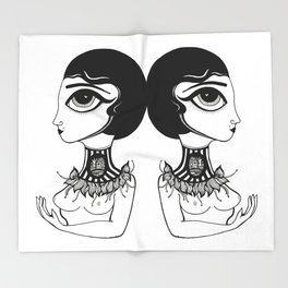 Death Becomes Her Throw Blanket