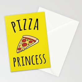 Pizza Princess Funny Quote Stationery Cards