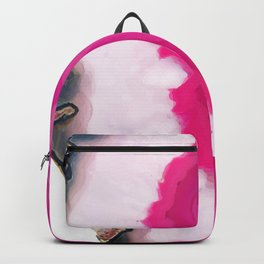Rose pink Agate slice Backpack
