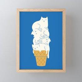 Cats Ice Cream Framed Mini Art Print