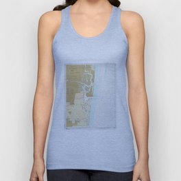 Map of Fort Lauderdale FL (1991) Unisex Tank Top