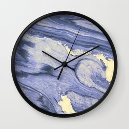 Lavender Marble With Cream Swirls Wall Clock