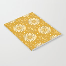 Happy Sunshine - yellow art, sunshine, boho art, bohemian, tile, home decor, yellow, yellow art print Notebook