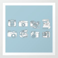 Camera Doodles Art Print