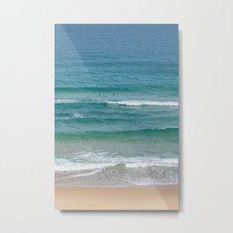 Surf Days Newcastle Beach Metal Print