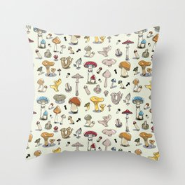 Fungus pattern Throw Pillow
