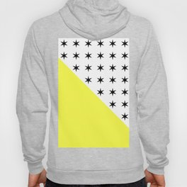 Black Stars And Sunshine Yellow - Colourful pattern Hoody