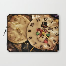 Vintage TimePieces Displaying a SnowMan Face Laptop Sleeve