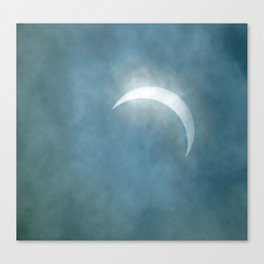 Cloudy Eclipse Canvas Print