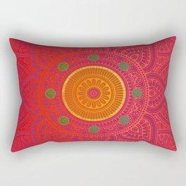 """""""Fuchsia and Gold Mandala"""" Rectangular Pillow"""