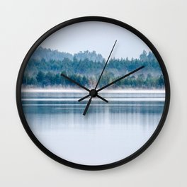 Morning begins with mist Wall Clock