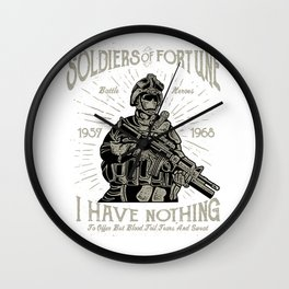 Soldiers Of Fortune Battle Heroes Wall Clock