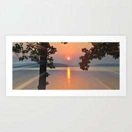 Sunset over Lake Gaston Art Print