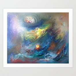 Village near the Sea Art Print