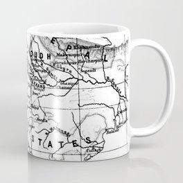 Vintage Map of India (1823) BW Coffee Mug