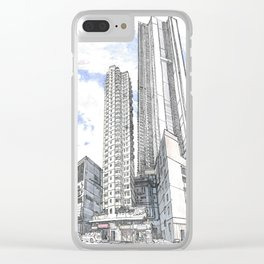 Hong Kong continuity of towers Clear iPhone Case