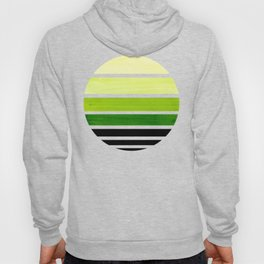 Sap Green Mid Century Modern Minimalist Circle Round Photo Staggered Sunset Geometric Stripe Design Hoody