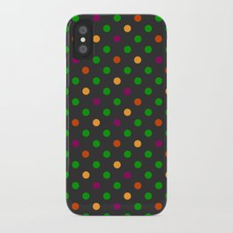 Colorful small polka dot iPhone Case