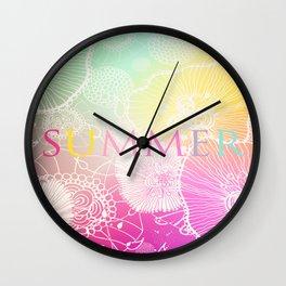PRISMATIC SUMMER RAINBOW Wall Clock