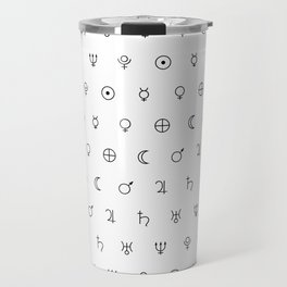 Planets symbols pattern Travel Mug