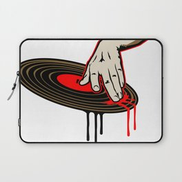Cool DJ Hand Spinning Turntable Record Laptop Sleeve