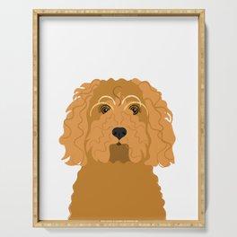 Cockapoo Dog Portrait Serving Tray