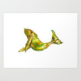 Pineapple Whale Art Print