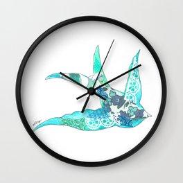 Light Blue Swallow Wall Clock