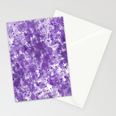 Purple Watercolor Abstract Stationery Cards