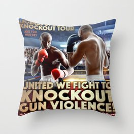 Legends of Boxing Knockout Tour Throw Pillow