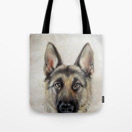 German Shepard Dog illustration original painting print Tote Bag