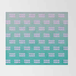 Vegan Power Vegetarian Workout Graphics Throw Blanket