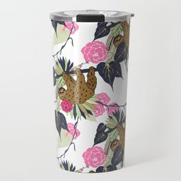 Sloth - Navy, Pink, Pistachio Travel Mug