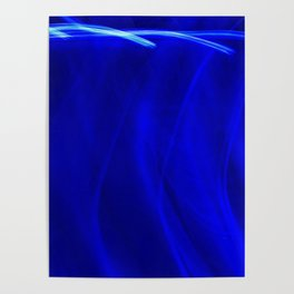 Abstract Behind Blue Eyes Poster