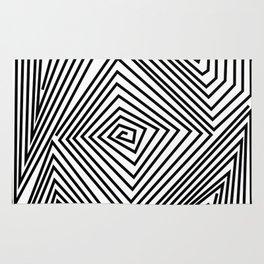 labirint black and wite design Rug