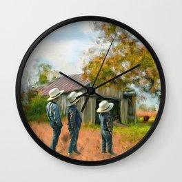 Boys on the Farm Wall Clock