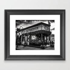 Boyds Jig and Reel Pub - BW Framed Art Print