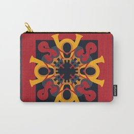 Home Sweet Home - Black Red (throw/tapestry) Carry-All Pouch