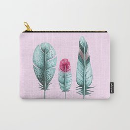 Watercolor feathers (pink) Carry-All Pouch