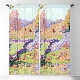 Willard Metcalf Hillside Pastures Blackout Curtain