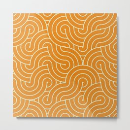 SWIRL / mango juice Metal Print