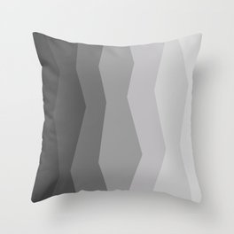Cool Geometric Charcoal to Light Grey Ombre Throw Pillow