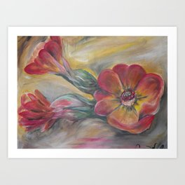 AL Floral Art Print