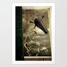 Pet Skeleton Art Print