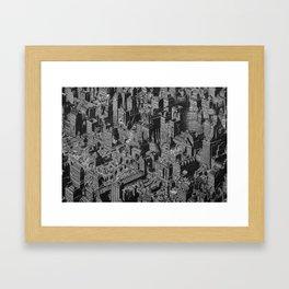 The Fantasy City. Urban Landscape Illustration. Framed Art Print